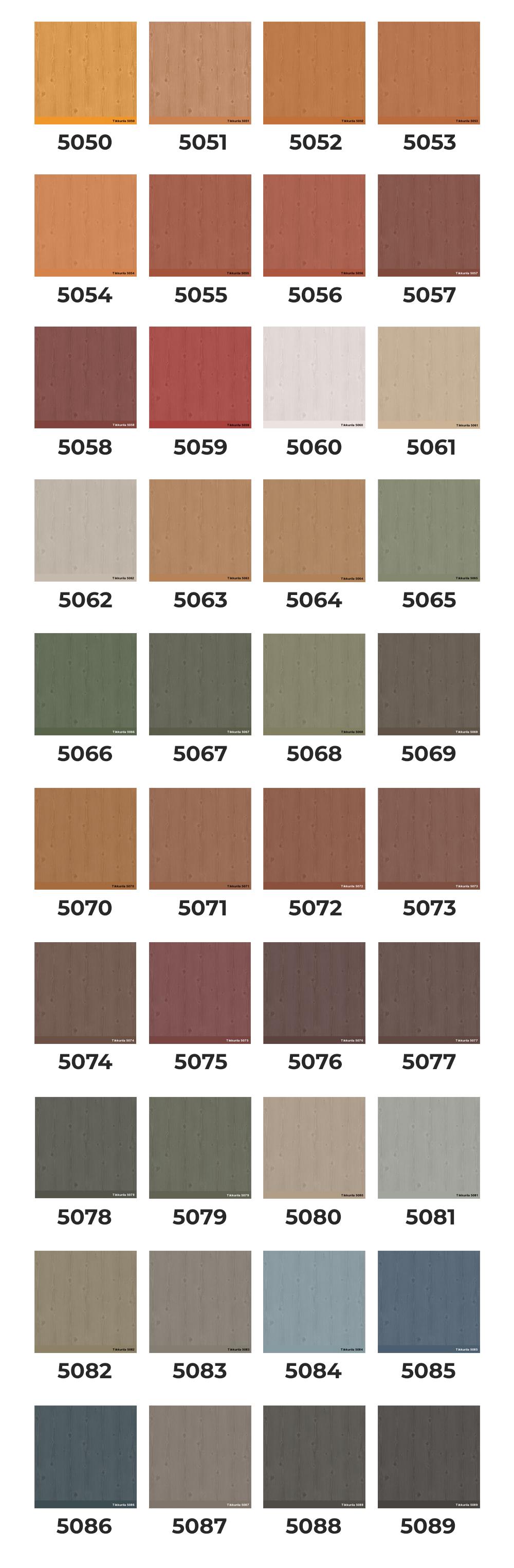 Kolory do wyboru malowania zewnętrznego saun. Sauny i balie ogrodowe produkcji SaunaGarden/HighContrast